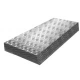 Лист  Амг2Н2Р рифленый металлический «Квинтет» 2x1500x3000